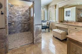 travertine tile bathroom. Luxury Shower With Travertine Tile In Cream Color Vanity Bathroom O