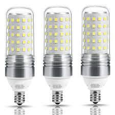 Light Bulb 100w Equivalent Us 13 59 15 Off Led Bulb Candelabra Light Corn Bulb 100w Equivalent E12 Base 12w 5000k 2700k Warm White 1100lm For Ceiling Fans Light 3 Pack In