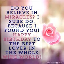 Birthday Love Quotes Simple 48 Cute And Romantic Birthday Wishes With Images TheFreshQuotes