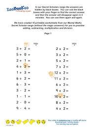 Mental Math Multiplication Worksheets - Criabooks : Criabooks