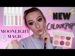 new colourpop moonlight magic collection makeup tutorial parisons swatches