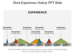 Work Experience History Ppt Slide Graphics Presentation