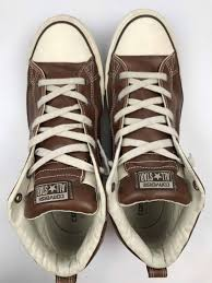 mens leather converse high tops size 13 brown all star chuck taylor brown