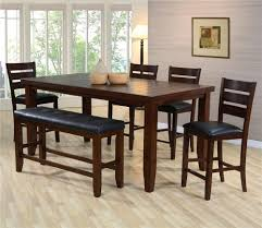 dining room table sets with bench. Crown Mark Bardstown Pub Table Set With Bench Dining Room Sets U