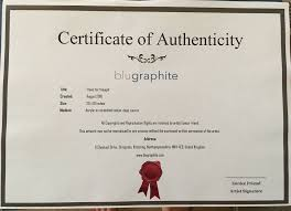 Unique Certificate Of Authenticity Template Ensign Entry Level