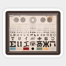 George Mayerle Test Chart Eye Test Chart
