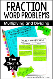 Fraction Word Problems Multiplying And Dividing Fractions
