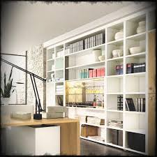 office workspace design ideas. Office Workspace Elegant Modern Home Decorating Feature White Shelves Storage And Unfinished Solid Maple Wood Desk Design Ideas