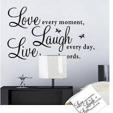 hot different design foodymine live laugh love art for walls decal mesmerizing black stickers give spirit on vinyl wall art words stickers with wall art best gallery about words art for wall customized wall