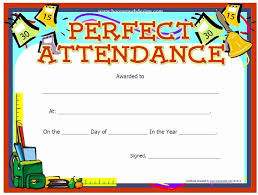 30 Printable Perfect Attendance Certificate Pryncepality