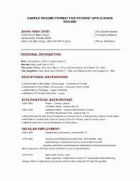 23 College Application Resume Formats Bcbostonians1986 Com
