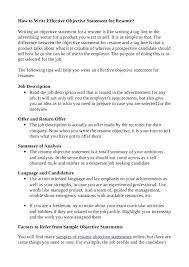 Objective Statement In Resume Resume Objective First Job Example Samples For Any Objectives