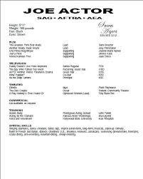 Theatre Resume Template Word Mesmerizing Theatre Resume Template Word Examples Acting Free Socialumco