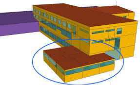 Sketchup 3d Representation Of The Monitored Building