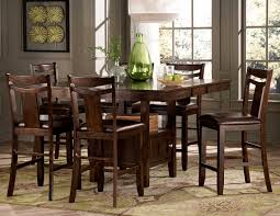 Tall Square Kitchen Table Set Simple Counter Height Dining Table Set On Small Villa Remodel
