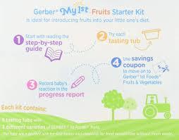 Gerber 1st Foods My 1st Fruits Starter Kit 1 Ounce Tubs 8