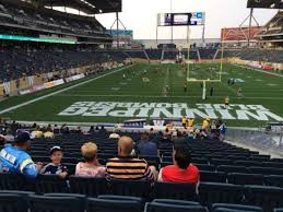 Investors Group Field Section 119 Home Of Winnipeg Blue