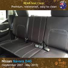 custom fit waterproof neoprene nissan navara d40 rear seat cover