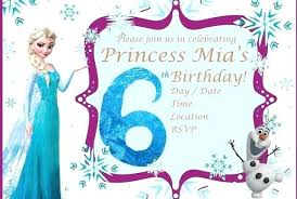 Birthday Party Invitation Card Template Free Awesome Frozen Birthday Party Invitation Ideas Template Free