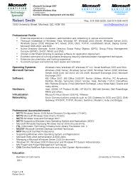 Resume Format For System Engineer Free Resume Example And