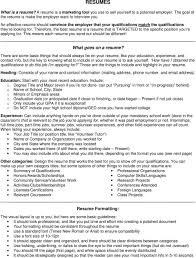 Resumes What Goes On A Resume Pdf