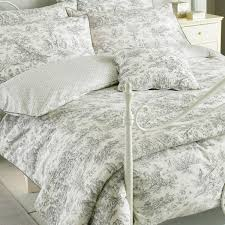 grey toile bedding design ideas