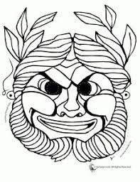 4f7ecceda9f9adb1a6afab2ac245f0da coloring sheets coloring books 3 greek mask templates teaching masks and mask templates on std printable pamphlet