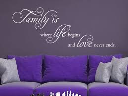 Wandtattoo Spruch Family Is Where Life