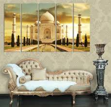 Small Picture Taj Mahal India Modern Home Decor Canvases Set Of 5 Home Interior