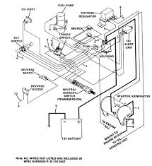 Ezgo wiring diagram gas golf cart