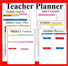 Teacher Organizer Planner Teacher Planner Book Teachers Lesson Planner Colored Teachers Organizer
