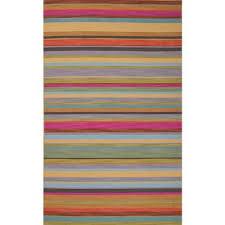 flat weave stripe pink purple wool area rug dessert bloom