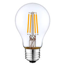 A19 LED Filament Bulb 4 Watt Dimmable 25W Equiv 400 Lumens by