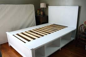 Build A Full Size Bed Frame White Full Size Bed Frame With Storage