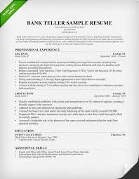 Resume For A Bank Teller Banking 4 Resume Examples Sample Resume Resume Bank Teller Resume