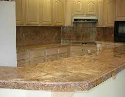tiled kitchen countertops