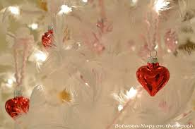 valentine s day feather tree covered in red and pink mercury glass hearts 3