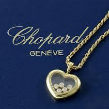 chopard happy diamonds 18k yellow gold heart pendant necklace