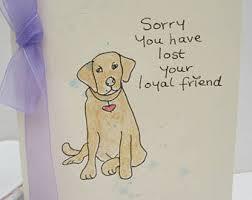Dog Sympathy Card Blank Card Sympathy Card Animal Sympathy