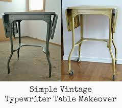 painted furniture makeover gold metallic. Going For Gold \u2013 How To Paint A Vintage Typewriter Table Painted Furniture Makeover Metallic