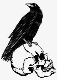 Black Evil Crow Landind Down Tattoo Sketch 2 Crow Drawing Png Png