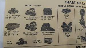 Lyman Front Sight Chart Winchester Express Sight Winchester Sights