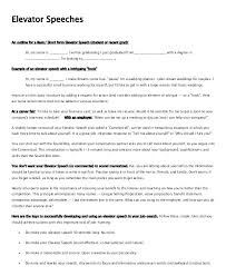 Elevator Pitch Examples For Students Elevator Pitch Format Writing An Elevator Speech Elevator Pitch