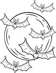 Small Picture FREE Printable Halloween Bats Coloring Page for Kids 1