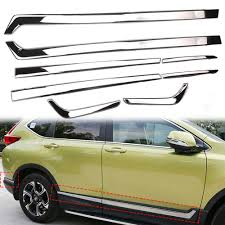 8pcs <b>Chrome Stainless Steel</b> Car Body <b>Side</b> Door Moulding Cover ...