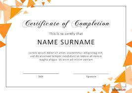 Certificate Of Completion Templates 009 Certification Of Completion Template