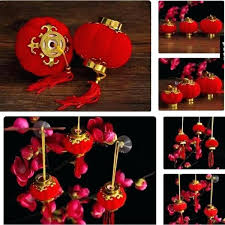 plastic lanterns lot small flocking red wedding party decor gift craft cute chinese lantern patio lights