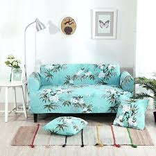 living room chair covers. Teal Couch Covers Flowers Universal Stretch Furniture Plants Corner Sofa Slipcovers For Living Room Elastic L Pillow Chair N