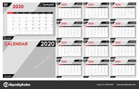 Planner 2020 Template Calendar Planner 2020 Set Desk Calendar Template Design Week