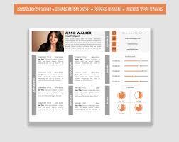 Horizontal Resume Template Cv Template Pack For Microsoft Word